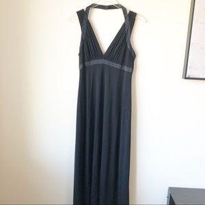 Vintage | Black midi dress